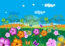 Colorful landscape illustration Royalty Free Stock Images