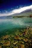 Landscape. Lake Ohrid Macedonia Royalty Free Stock Photos