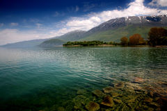 Landscape. Lake Ohrid Macedonia Stock Images