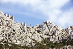 Landscape. The Velebit mountains in Croatia stock photography