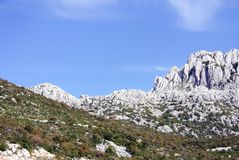 Landscape. The velebit mountains in Croatia royalty free stock images