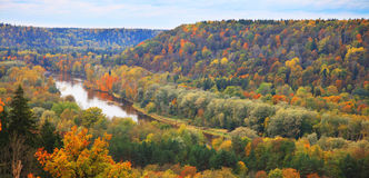 Landscape. Colorful autumn in Sugulda near to river Gauja, Latvia Stock Photos