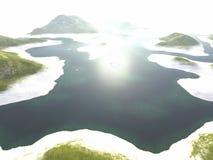 Landscape. Digital visualization of a landscape Stock Images