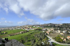 Landscape. Panorama Sicilian hinterland in December stock photos