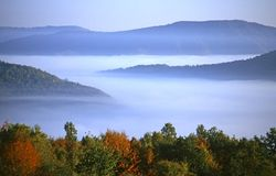 Landscape. Beautiful landscape taken in misty morning Stock Photos