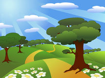Landscape. Illustration of a beautiful meadow landscape Royalty Free Stock Photography
