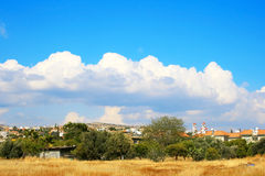 Landscape. With clouds and rural place Royalty Free Stock Photo