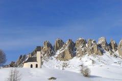Winter landscape dolomites Stock Photography