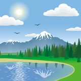 Landscape. Wild nature. Vector illustration Royalty Free Stock Photos