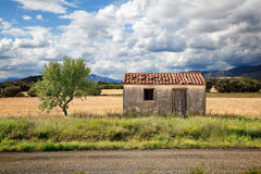 Landscape. With old house and tree royalty free stock photos