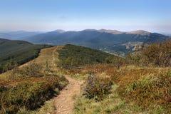 Landscape. Bieszczady Mountains in Poland Royalty Free Stock Photo