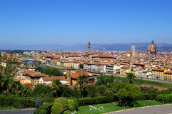 Landscape. View of Florence from piazza Michelangelo Stock Photo