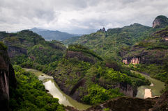 Landscape. One meander of the nine-bend river neat Mt Wuyi in Jiangxi Province, China Stock Images
