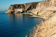 Landscape. Beautiful scenery, the coast of the Mediterranean Sea Stock Images