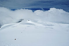 Landscape. From the summit of western breithorn Royalty Free Stock Photo