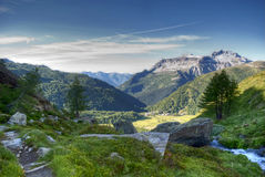 Landscape. Of alpe devero climbing cervandone Royalty Free Stock Photo