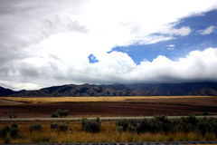 Landscape. A typical scene of farmland in northern Idaho during summer stock photo