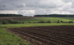 Landscape. Detail view of rural landscape with dramatic cloud sky royalty free stock image