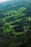 Landscape. Typical finnish landscape seen from the air Stock Photo