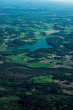 Landscape. Typical finnish landscape seen from the air Royalty Free Stock Photos