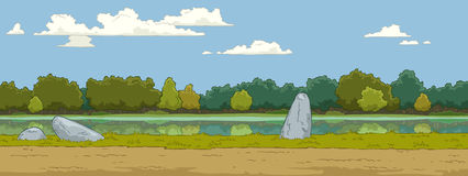 Landscape. The natural landscape cartoon background vector Stock Photos