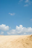 Landscape. Clouds above the sandy road royalty free stock photography