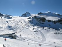 Landscape. Winter ski slope landscape,alps Royalty Free Stock Photography