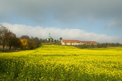 Landscape. Summer landscape near old city in Polnad royalty free stock image