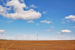 Landscape. In Bessarabia, Ukraine field Royalty Free Stock Photo