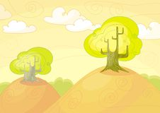 Landscape. Image for the landscape design royalty free illustration