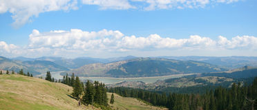 Landscape. Beautiful sunny landscape in Romanian mountains on Bistrita valley Royalty Free Stock Photography