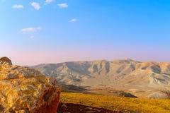 Landscape. Landscape Of Judea Mountains Near Dead Sea. Sunset Stock Photo