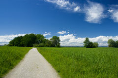 Landscape. Bavarian landscape with away on a nice weather day Stock Photo