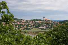 Landscape with abbey Stock Photography
