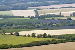 Landscape from above Royalty Free Stock Photos