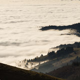 Landscape above fog Stock Photography