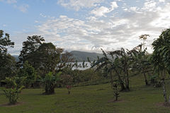 Landscape above the Lake Arenal at La Fortuna, Costa Rica.  Royalty Free Stock Images