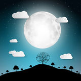 Landscape Abstract Full Moon Vector Illustration Royalty Free Stock Photos