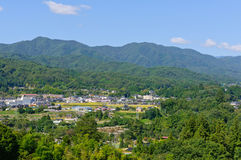 Landscape of Achi village in Southern Nagano, Japan Stock Photos