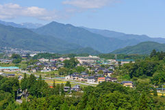 Landscape of Achi village in Southern Nagano, Japan Stock Photography