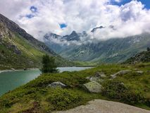 Landscape of adamello valley  in summer with one lake. Italy Stock Images