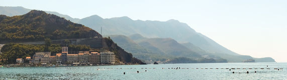 Landscape of the Adriatic coast Bar, Montenegro Stock Image