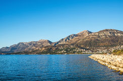 The landscape of the Adriatic coast of Bar, Montenegro. The sea, Stock Images