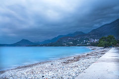 The landscape of the Adriatic coast of Bar, Montenegro before th Stock Photo