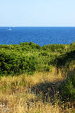 Landscape from the Adriatic coast in the hot summer Stock Photo