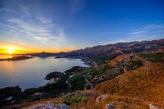Landscape of Adriatic sea coast in Montenegro Stock Photos