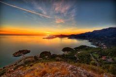 Landscape of Adriatic sea coast in Montenegro Stock Photo