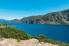 Landscape of the Aegean coast Stock Image