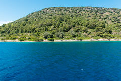 Landscape of the Aegean coast royalty free stock photography