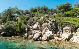 Landscape of the Aegean coast Royalty Free Stock Image